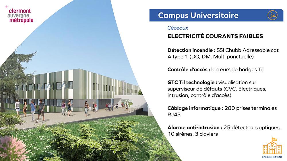 Clermont Auvergne Métropole Campus des Cézeaux