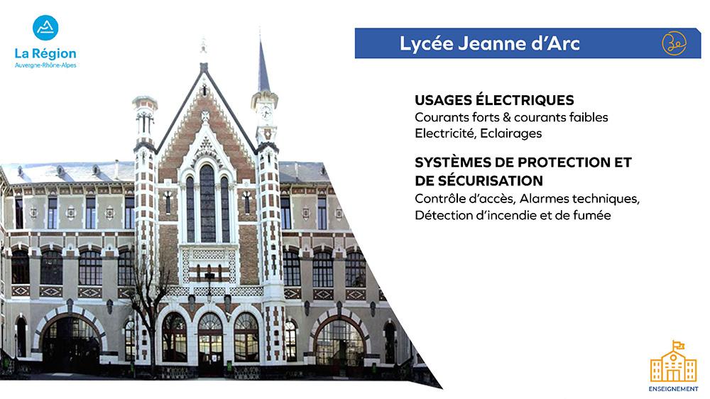 Région Auvergne-Rhône-Alpes - Lycée Jeanne d'Arc