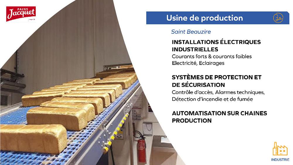 Pains Jacquet - Usine de production