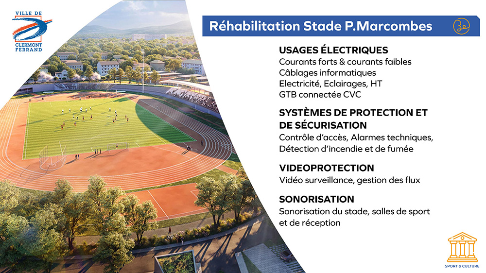 Ville de Clermont-Ferrand - Réhabilitation Stade Philippe Marcombes